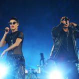Rihanna y Jay-Z cantando en la clausura de los Juegos Paralímpicos de Londres 2012