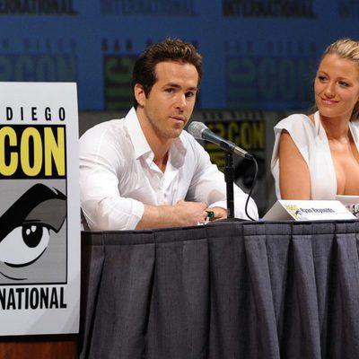 Ryan Reynolds y Blake Lively durante la Comic-Con 2010