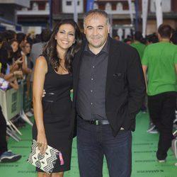 Ana Pastor y Antonio García Ferreras en la ceremonia de clausura del FesTVal de Vitoria 2012