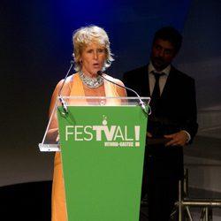 Mercedes Milá en la ceremonia de clausura del FesTVal de Vitoria 2012