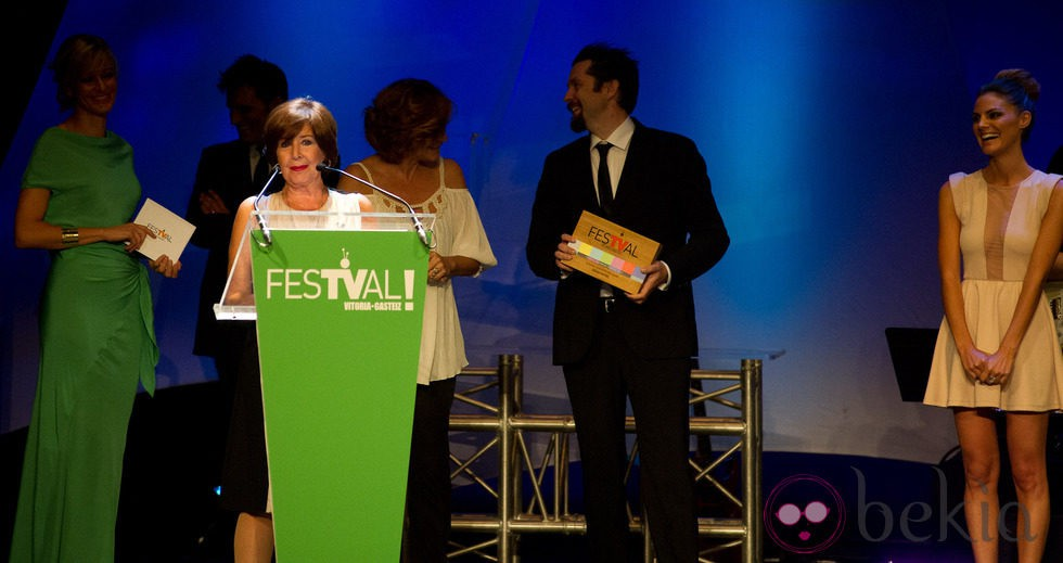 Concha Velasco durante la gala de clausura del FesTVal de Vitoria 2012