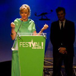 Susanna Griso en la ceremonia de clausura del FesTVal de Vitoria 2012