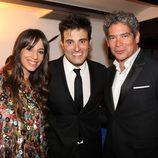 Almudena Cid, Luis Larrodera y Boris Izaguirre en la clausura del FesTVal de Vitoria 2012
