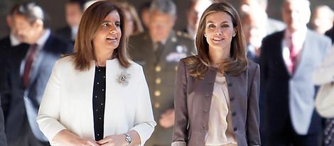 La ministra de Empleo y la Princesa de Asturias durante su visita al Escorial
