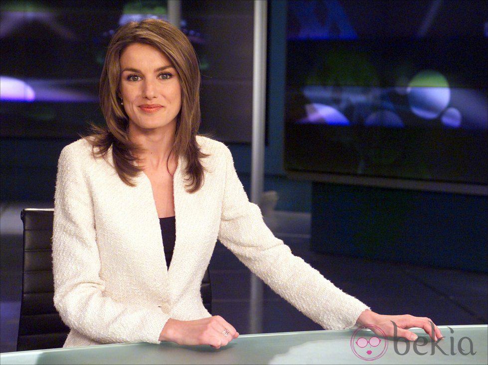 Letizia Ortiz en su etapa como presentadora del Telediario