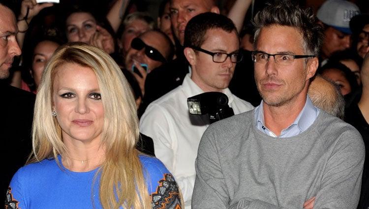 Britney Spears y Jason Trawick en el estreno de la nueva temporada de 'X Factor'