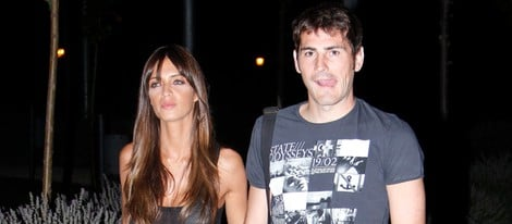 Iker Casillas y Sara Carbonero, paseo nocturno por Madrid