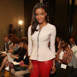 La Miss Universo 2011 Leila Lopes en el front row de la Semana de la Moda de Nueva York