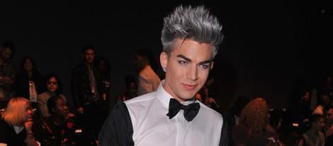 Adam Lambert en el front row de la Semana de la Moda de Nueva York