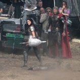 Chris Hemsworth en un momento del rodaje de 'Thor: The Dark World'
