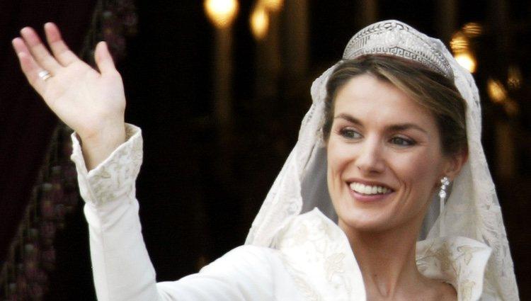 La Princesa Letizia el día de su boda