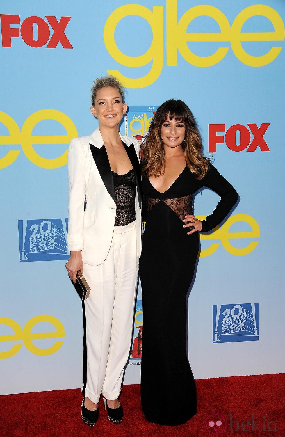 Lea Michele y Kate Hudson presentan la cuarta temporada de \'Glee ...