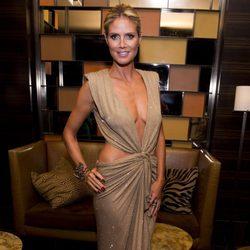 Heidi Klum en una fiesta de la Semana de la Moda de Nueva York