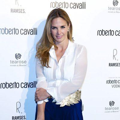 Genoveva Casanova en la apertura de una tienda de Roberto Cavalli en Madrid