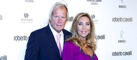 Norma Duval y Matthias Kuhn en la apertura de la tienda Roberto Cavalli en Madrid