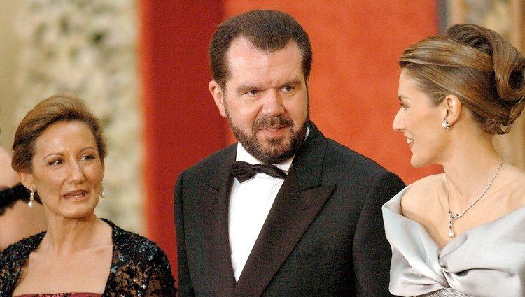 Letizia con sus padres Jesús Ortiz y Paloma Rocasolano