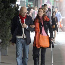 Telma Ortiz y Jaime del Burgo paseando por Nueva York