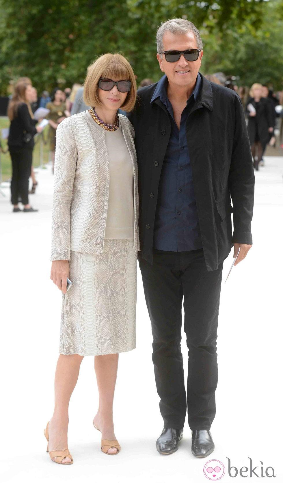 Anna Wintour y Mario Testino en la Semana de la Moda de Londres primavera/verano 2013