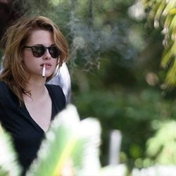 Kristen Stewart en el set de rodaje de la película 'On the Road'