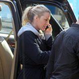 Blake Lively en el rodaje de la sexta temporada de la serie 'Gossip Girl'