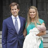 Carla Goyanes y Jorge Benguría bautizan a su hijo Carlos