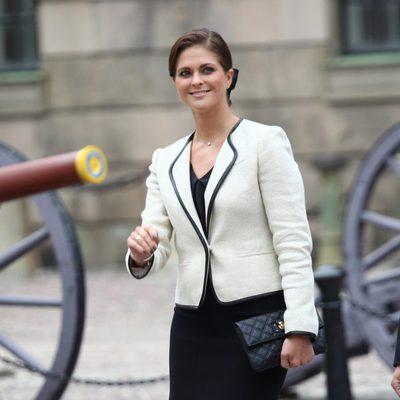 La Princesa Magdalena de Suecia en la apertura del Parlamento