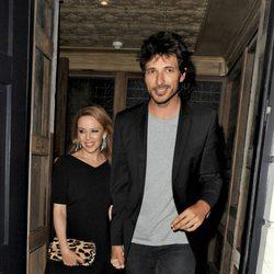Kylie Minogue y Andrés Velencoso disfrutan de una cena en Londres