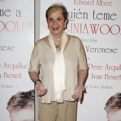 Lina Morgan en el estreno de '¿Quién teme a Virginia Woolf?'