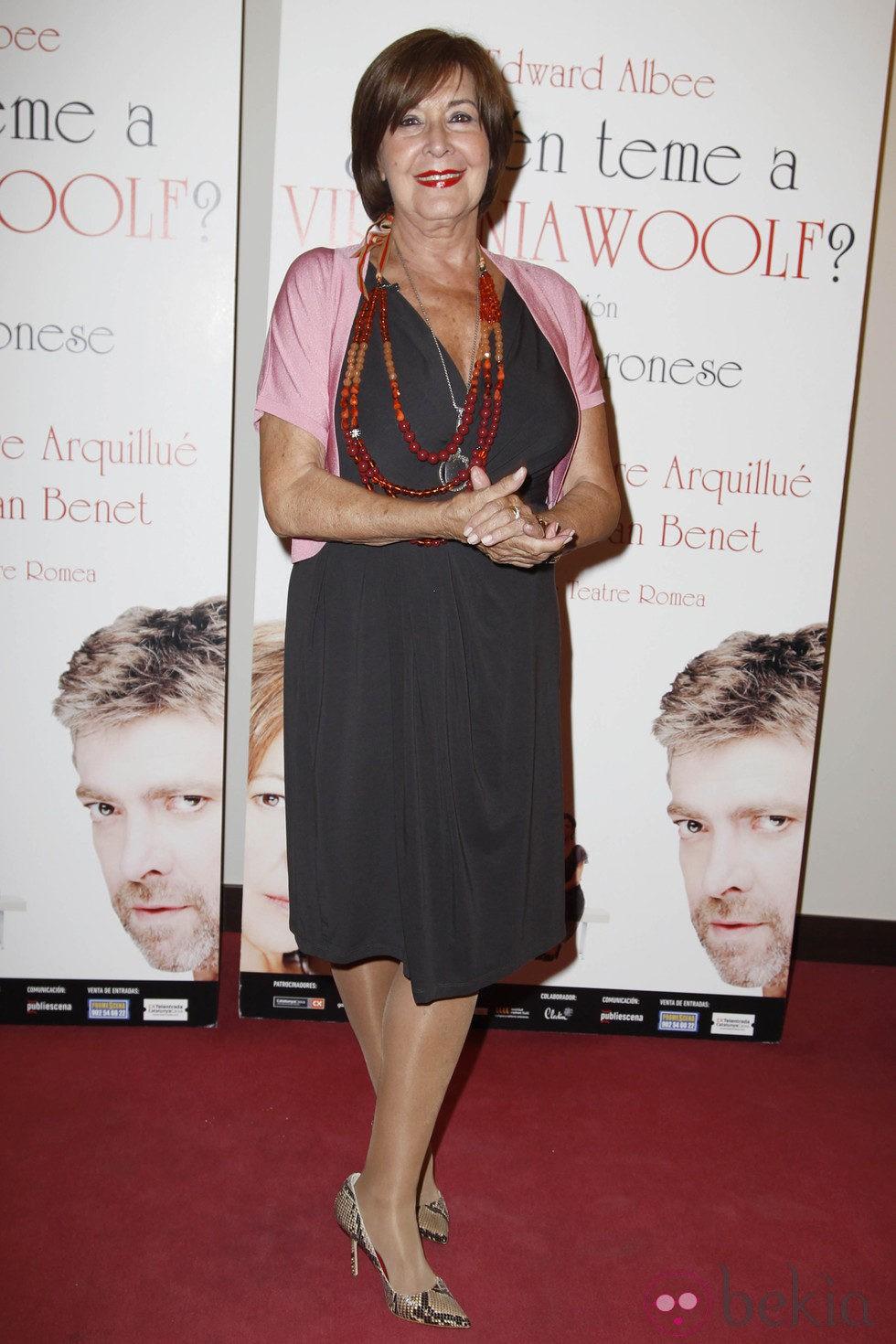 Concha Velasco en el estreno de '¿Quién teme a Virginia Woolf?'