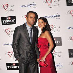 Tony Parker y su novia Axelle en un evento benéfico