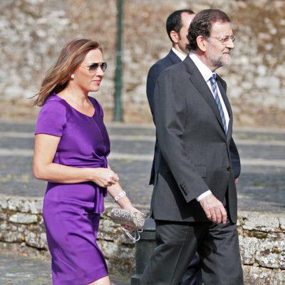 Mariano Rajoy y Elvira Fernández en la boda del hijo de Ruiz Gallardón
