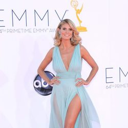 Heidi Klum en la alfombra roja de los Emmy 2012