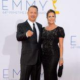 Tom Hanks y Rita Wilson en los Emmy 2012