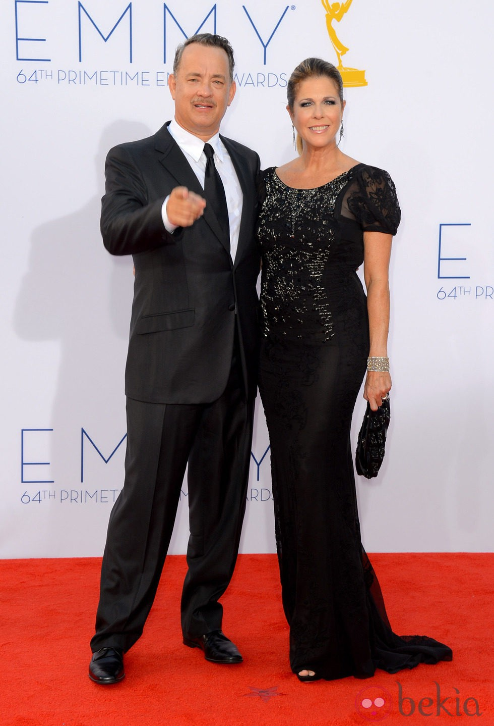 Tom Hanks y Rita Wilson en los Emmy 2012