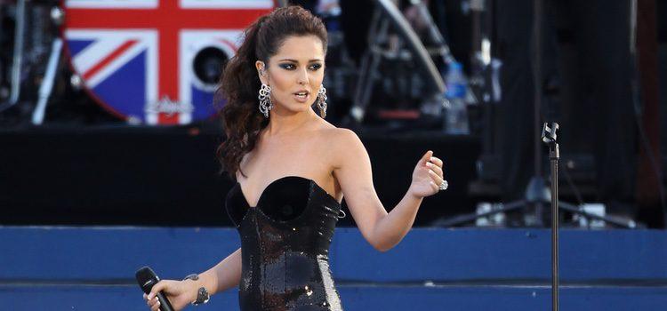 Cheryl Cole en una actuación en el Jubileo de la Reina