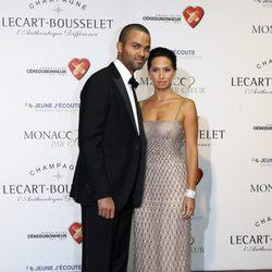 Tony Parker y Axelle en una gala benéfica en Monte-Carlo