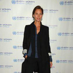 Christy Turlington en una cena benéfica de la ONU en Nueva York