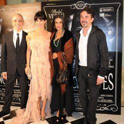Pablo Berger, Maribel Verdú, Ángela Molina y Pere Ponce en el estreno de 'Blancanieves' en Barcelona