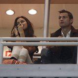 Irina Shayk y Cristiano Ronaldo en el palco del Estadio Santiago Bernabéu
