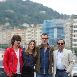 Óscar Jaenada, Amaia Salamanca, Eduard Cortés y Guillermo Francella en el Festival de San Sebastián