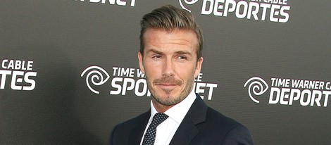 David Beckham en la presentación del canal Time Warner Sports