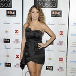 Sandra Cervera en los Premios del Teatro Musical 2012