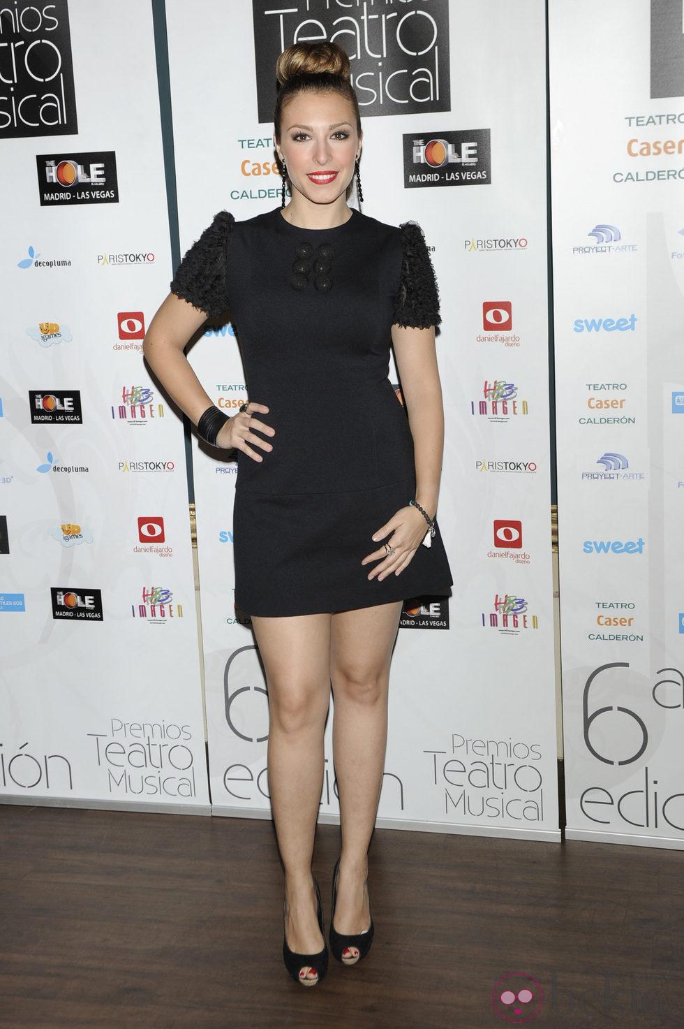 Gisela en los Premios del Teatro Musical 2012