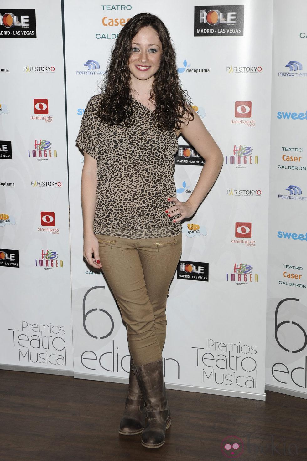 Elena Rivera en los Premios del Teatro Musical 2012