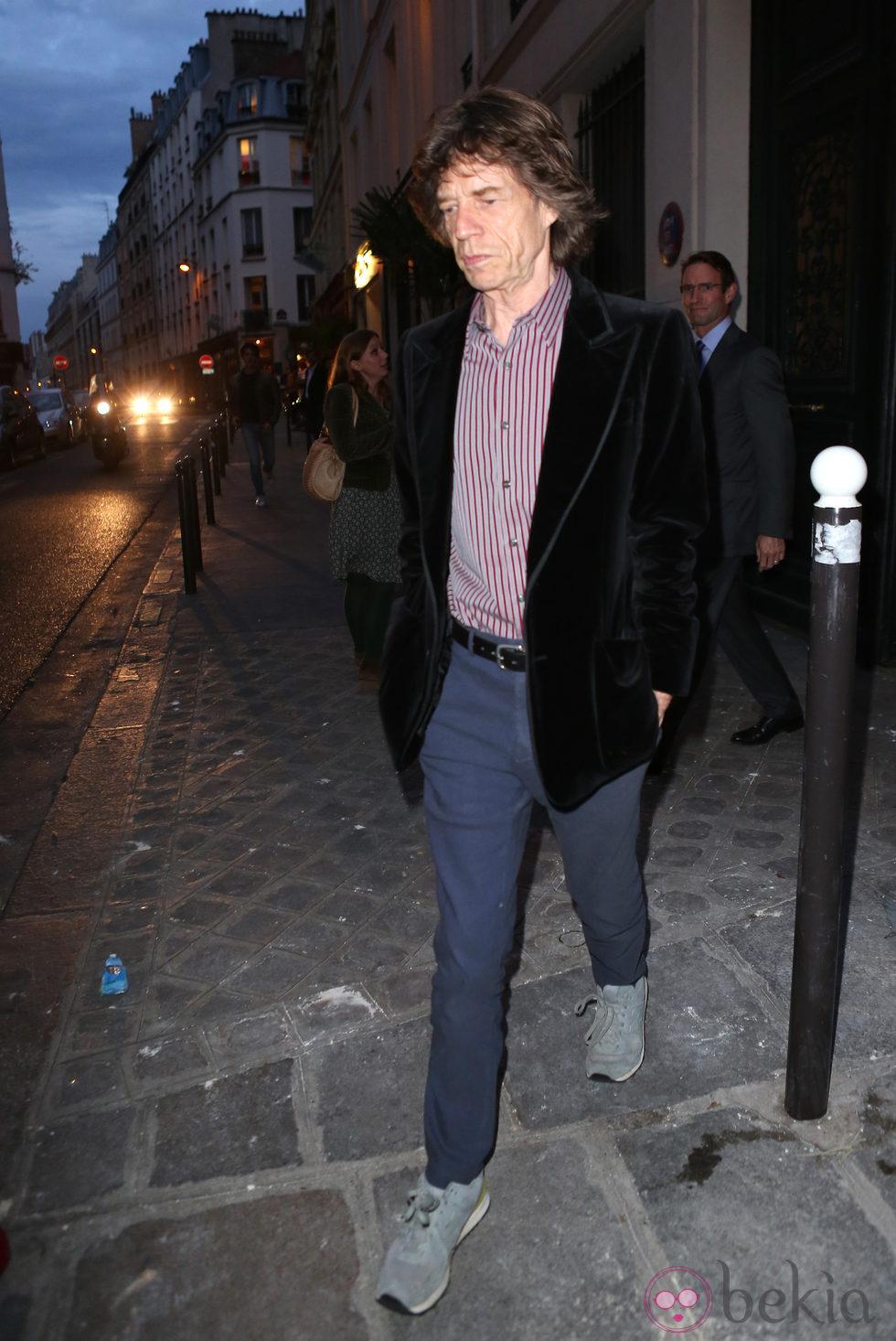 Mick Jagger en una cena de apoyo a la campaña de Barack Obama en París