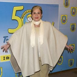 Lina Morgan en la cena del 50º aniversario de 'Mensajeros por la Paz'