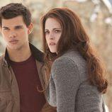 Taylor Lautner y Kristen Stewart en 'Amanecer.Parte2'