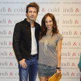 Nerea Garmendia y Jesús Olmedo en la inauguración de la tienda Indi & Cold en Madrid