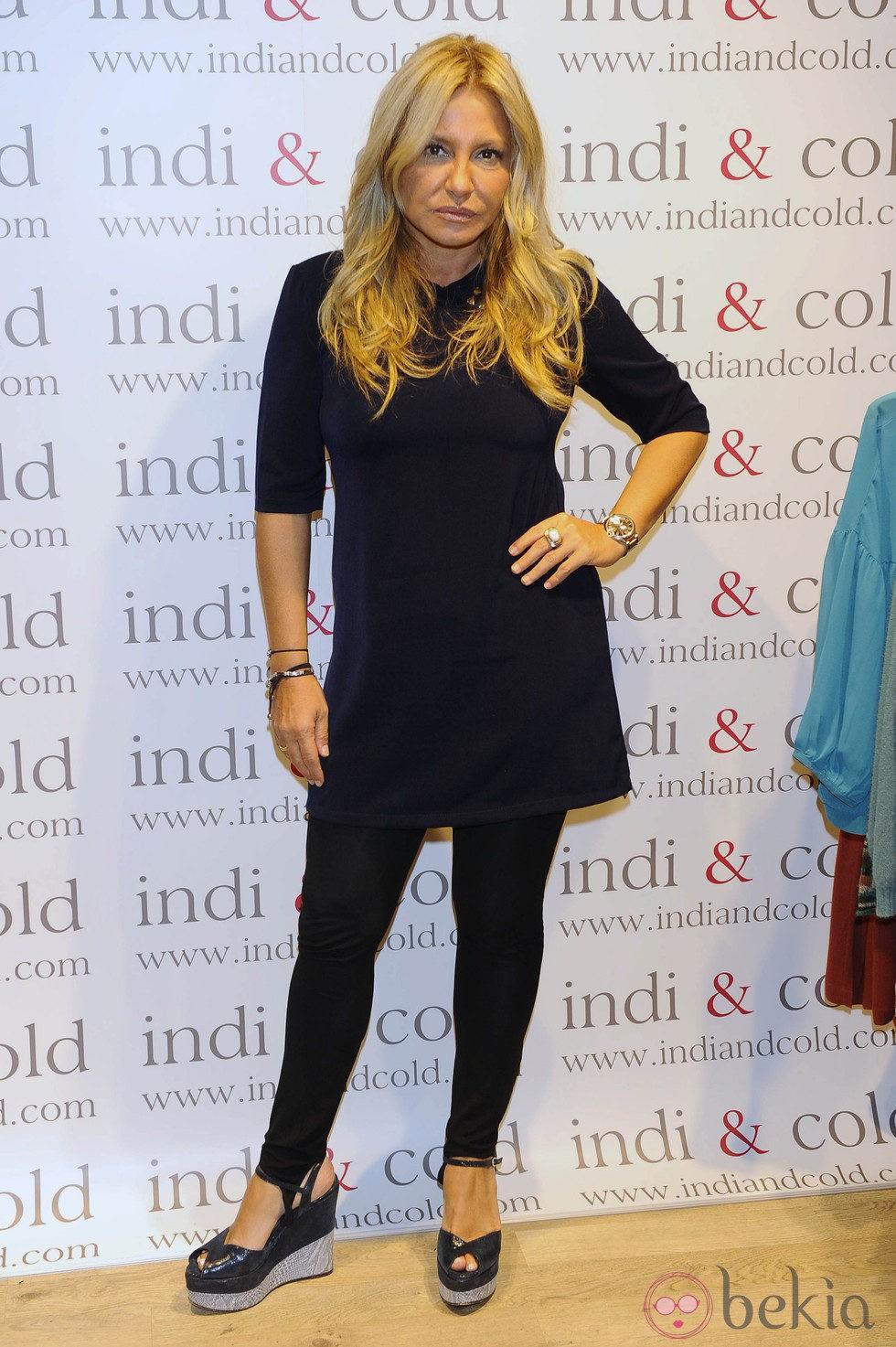 Cristina Tárrega en la inauguración de la tienda Indi & Cold en Madrid