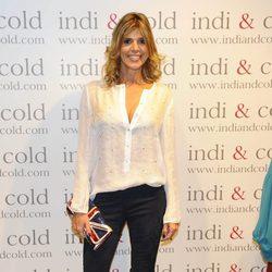 Arancha de Benito en la inauguración de la tienda Indi & Cold en Madrid